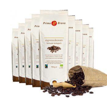 Primo Bravo Espressobonen Fairtrade Biologisch bij Langerak de Jong